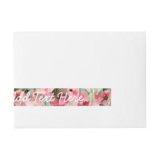 Acuarela de moda roja y vintage rosado floral pegatinas postales