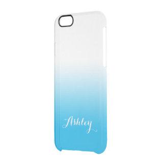 Acuarela de Ombre de la pendiente del azul de Funda Clearly™ Deflector Para iPhone 6 De Uncommon