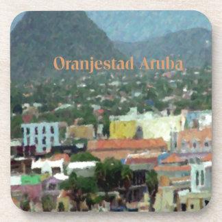 Acuarela de Oranjestad Aruba Posavaso