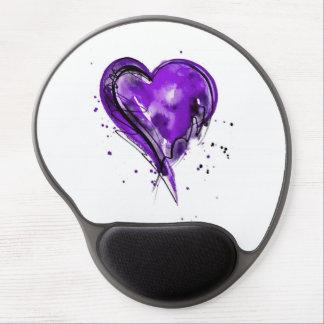 Acuarela de Purple Heart Alfombrilla Con Gel