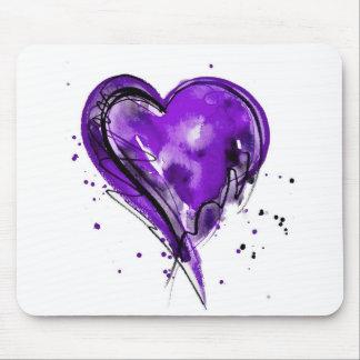 Acuarela de Purple Heart Tapete De Ratones