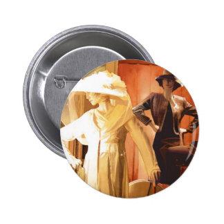 """Acuarela de """"Rita y de Katrina"""" New Orleans Pin Redondo 5 Cm"""