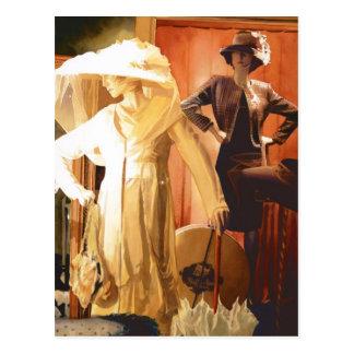 """Acuarela de """"Rita y de Katrina"""" New Orleans Postales"""