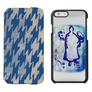 Acuarela de señor Takagari Samurai Blue Hue del Funda Cartera Para iPhone 6 Watson
