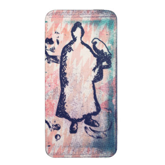 Acuarela de señor Takagari Samurai Pink Hue del Funda Acolchada Para iPhone