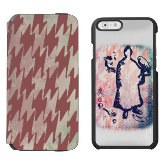 Acuarela de señor Takagari Samurai Pink Hue del Funda Cartera Para iPhone 6 Watson