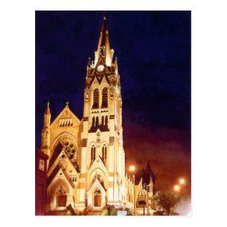 "Acuarela de St. Louis de la iglesia de ""St Francis Tarjetas Postales"