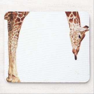 "Acuarela del animal de la fauna de la jirafa de ""L Mouse Pads"