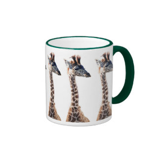 """Acuarela del animal de la fauna de la """"pequeña taza de dos colores"""