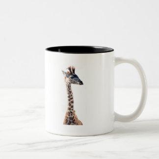 """Acuarela del animal de la fauna de la """"pequeña taza de dos tonos"""