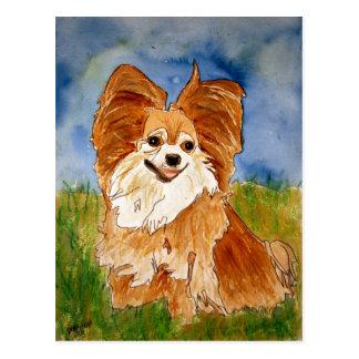 acuarela del arte del retrato del mascota de la po tarjeta postal