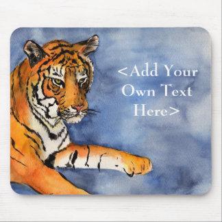 Acuarela del arte del tigre de Bengala que pinta M Tapete De Ratones
