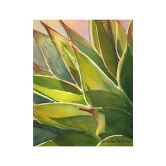 Acuarela del attenuata del agavo de Debra Lee Bald Impresión En Lona