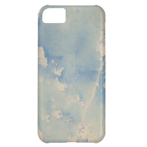Acuarela del azul de cielo funda para iPhone 5C