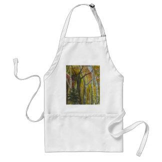 Acuarela del bosque del otoño delantal