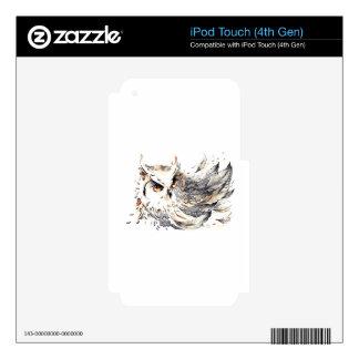 Acuarela del búho calcomanías para iPod touch 4G