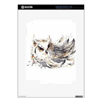 Acuarela del búho iPad 2 skin