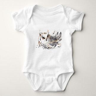 Acuarela del búho mameluco de bebé