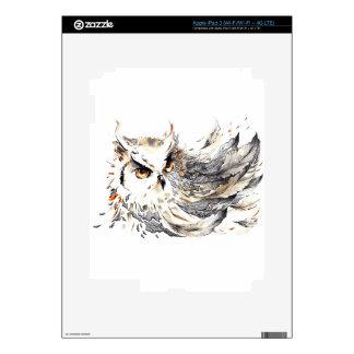 Acuarela del búho pegatina skin para iPad 3