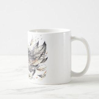 Acuarela del búho taza de café