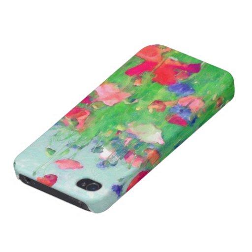 Acuarela del caso del iPhone de los Wildflowers iPhone 4 Cárcasas