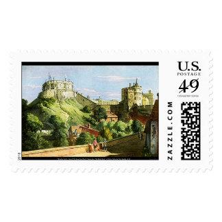 ¡Acuarela del castillo de Windsor que pinta el Sellos