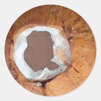 Acuarela del coco - pegatina