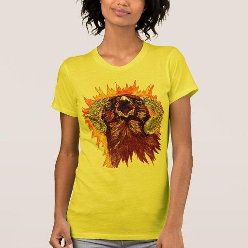 Acuarela del cuervo del aries camiseta