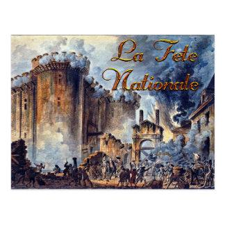 Acuarela del día de Bastille Tarjeta Postal