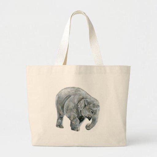 Acuarela del elefante del bebé bolsa