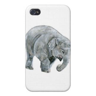 Acuarela del elefante del bebé iPhone 4 fundas