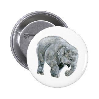 Acuarela del elefante del bebé pin