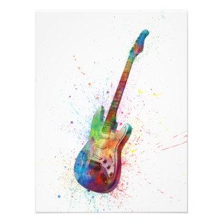 Acuarela del extracto de la guitarra eléctrica fotografía