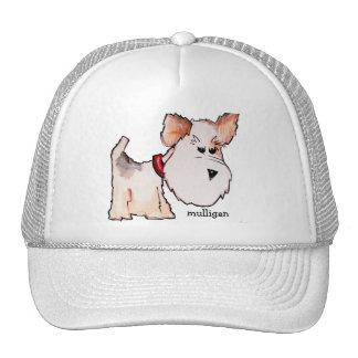 Acuarela del fox terrier con nombre gorra