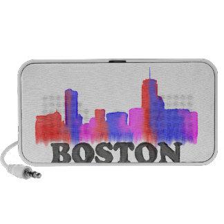 Acuarela del horizonte de Boston iPod Altavoces