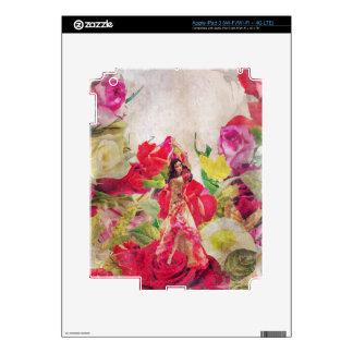 Acuarela del jardín de flores del bailarín iPad 3 skin