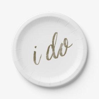 Acuarela del oro hago platos de papel