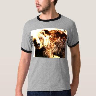 Acuarela del oso grizzly playera