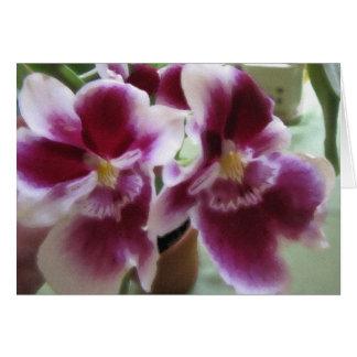 Acuarela del perfume de la orquídea tarjeta de felicitación