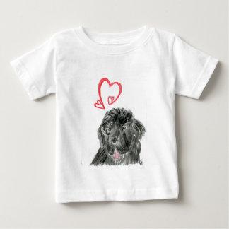 Acuarela del perro de Terranova del amor Tshirts