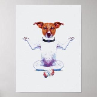 Acuarela del perro I del zen Póster