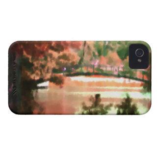 Acuarela del puente del lago scene de la caída del iPhone 4 coberturas