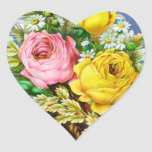 Acuarela del ramo floral del otoño calcomanía corazón personalizadas