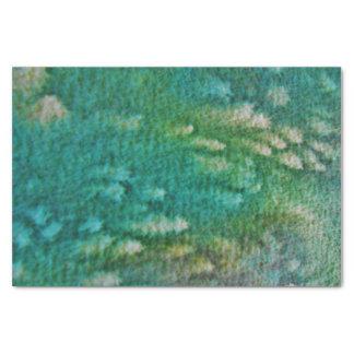Acuarela del verde azul papel de seda