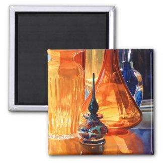 """Acuarela del vidrio del arte del """"escondite"""" imán de frigorífico"""
