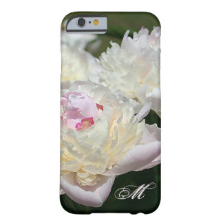 Acuarela delicada del Peony en rosa y blanco Funda De iPhone 6 Barely There