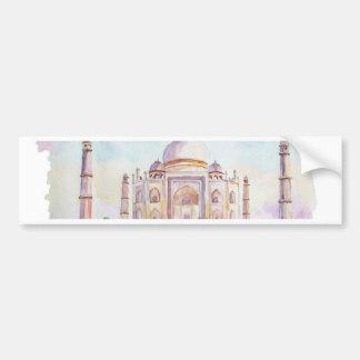 Acuarela el Taj Mahal Pegatina Para Auto
