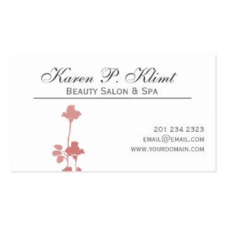 Acuarela elegante del adorno de dos rosas mínima tarjetas de visita