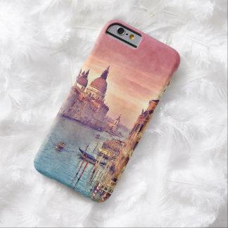Acuarela elegante del pastel del canal de Italia Funda De iPhone 6 Barely There