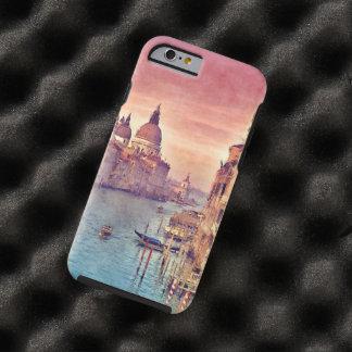 Acuarela elegante del pastel del canal de Italia Funda Para iPhone 6 Tough